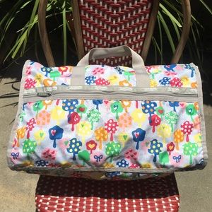 """LeSportSac large duffle in """"Happy Trees"""" print"""